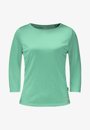 Long sleeved top - pacific green