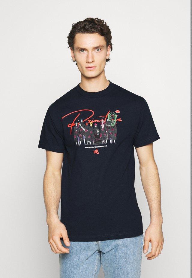 AKATSUKI CLAN TEE - T-shirts med print - navy