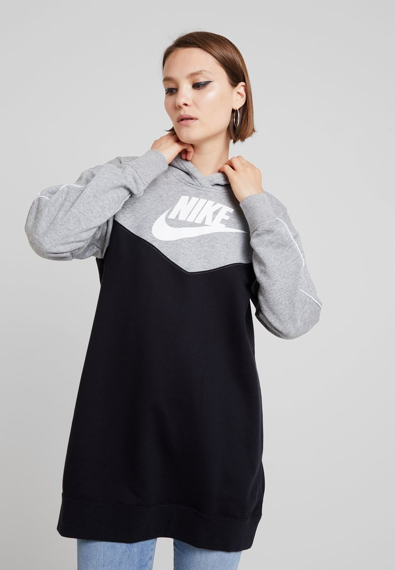 Nike Sportswear - HOODIE - Denní šaty - black/white