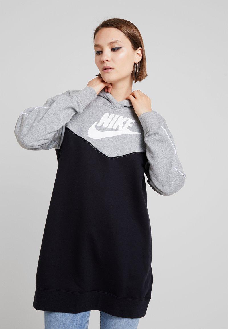 Nike Sportswear - HOODIE - Day dress - black/white