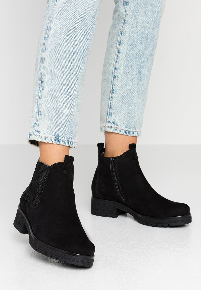 Gabor - WIDE FIT - Ankle boots - schwarz