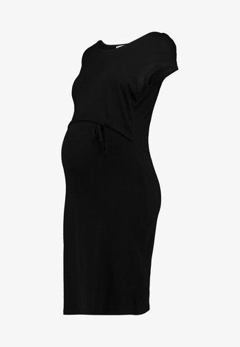 NURSING Jersey dress - Sukienka z dżerseju - black
