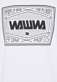 WAWWA - UNISEX SQUARE LOGO  - Long sleeved top - white - 2