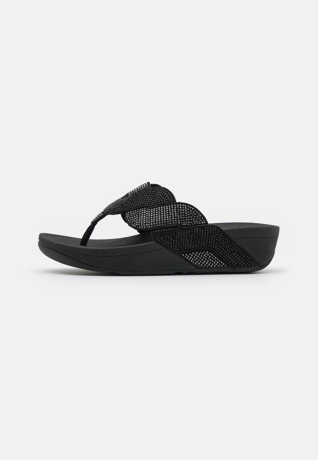 PAISLEY ROPE TOE THONGS - Infradito - black