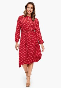 Triangle - MIT ORNAMENTALEM MUSTER - Day dress - red aop - 1