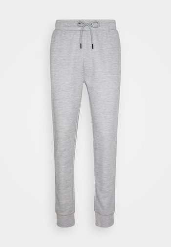 TYRELLC - Teplákové kalhoty - grey marl/ jet black