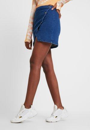 NOTCHED - Denim skirt - indigo blue