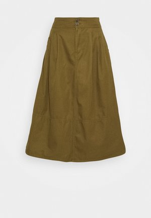 HIGH RISE SKIRT - A-linjainen hame - amber green