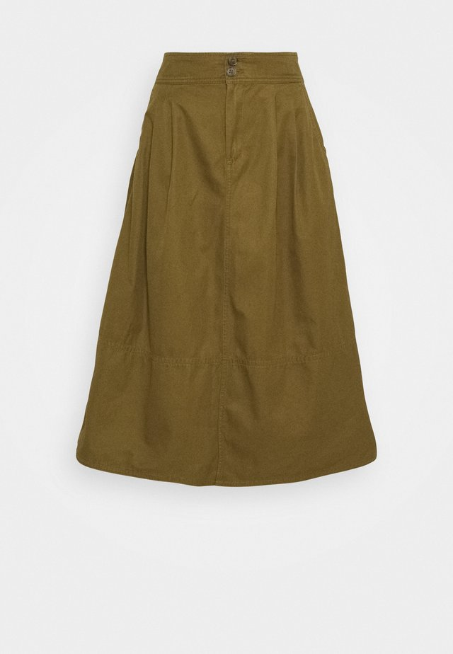 HIGH RISE SKIRT - A-lijn rok - amber green