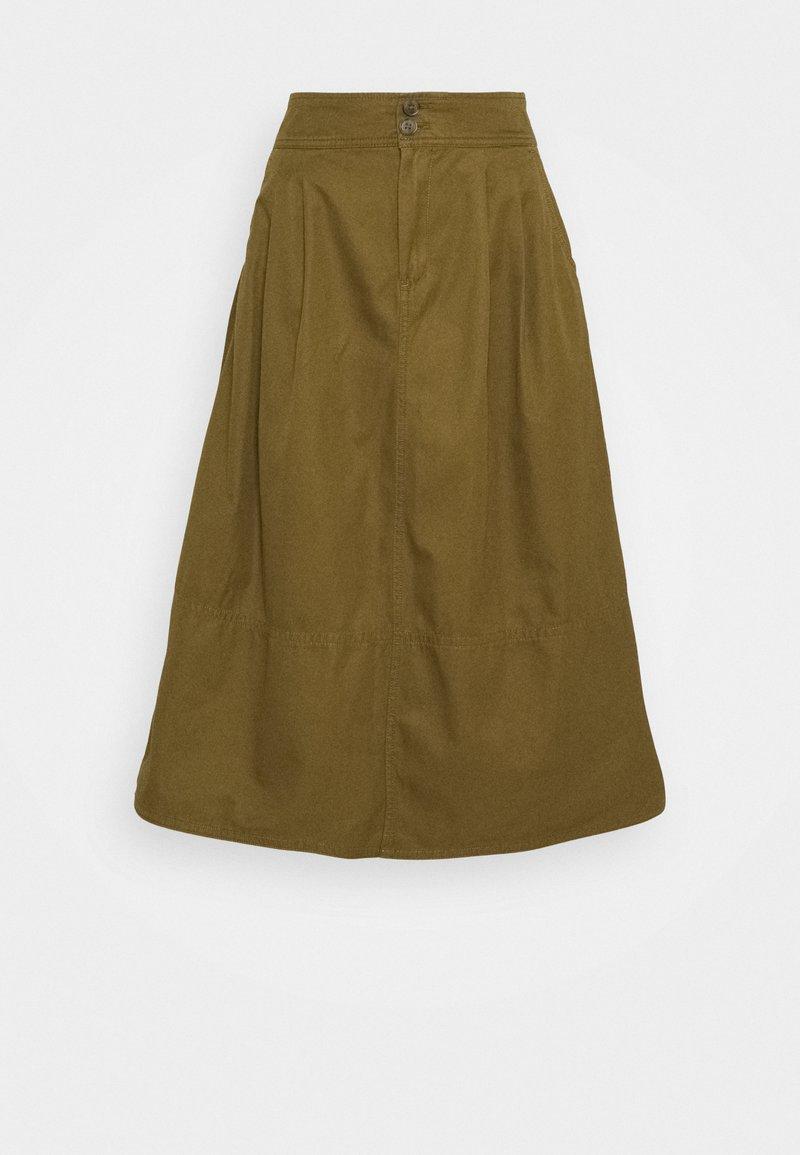 GAP - HIGH RISE SKIRT - A-line skirt - amber green