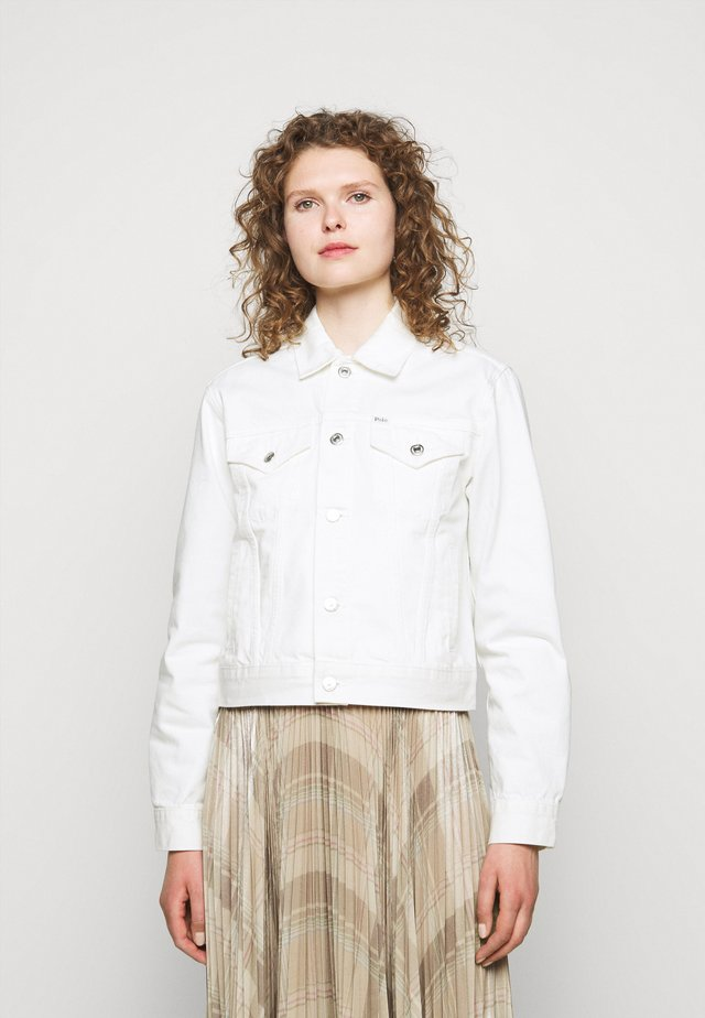PEASLEY WASH - Veste en jean - white