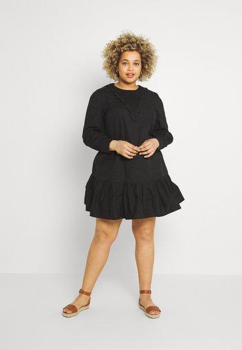 SHIRRED DETAIL DRESS - Robe d'été - black