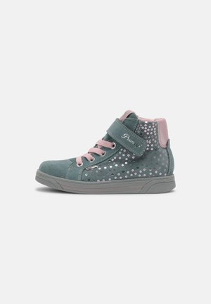 Sneakers hoog - acquamarin/rosa