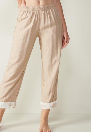 AUS NOMADIC FRINGES - Pyjama bottoms - natürlich - 397i - natural beige/talc white