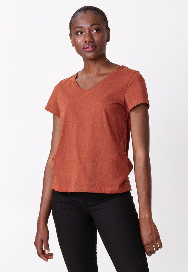 MATHILDA - T-shirt basic - rust