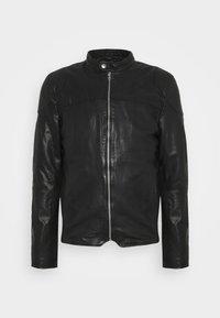 MADRID BIKER - Leather jacket - black