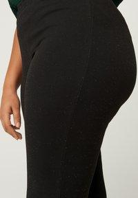 Zizzi - SPARKLY  - Leggings - Trousers - black - 2