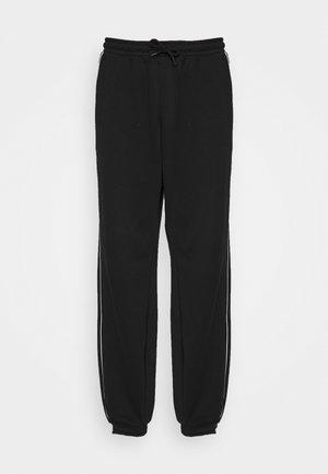 STANDARD PIPING UNISEX - Pantaloni sportivi - black/white