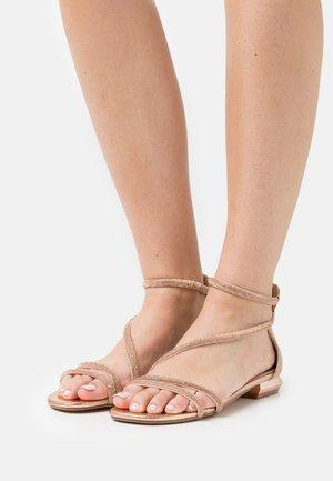 Sandaalit nilkkaremmillä - rosa/oro