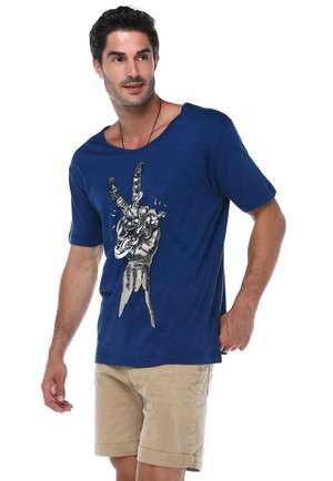 THEODOR - T-shirt print - dark blue