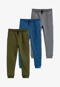 Next - MULTI BLACK SKINNY FIT 3 PACK JOGGERS (3-16YRS) - Tracksuit bottoms - grey - 0