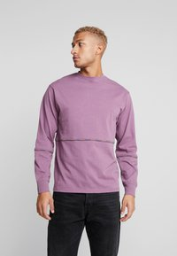 Mennace - UNISEX BRANDED PIPING - Sweatshirt - purple - 0