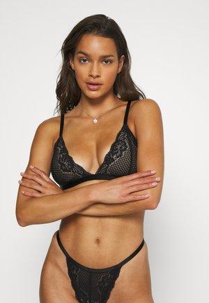 LISA BRA - Triangle bra - black