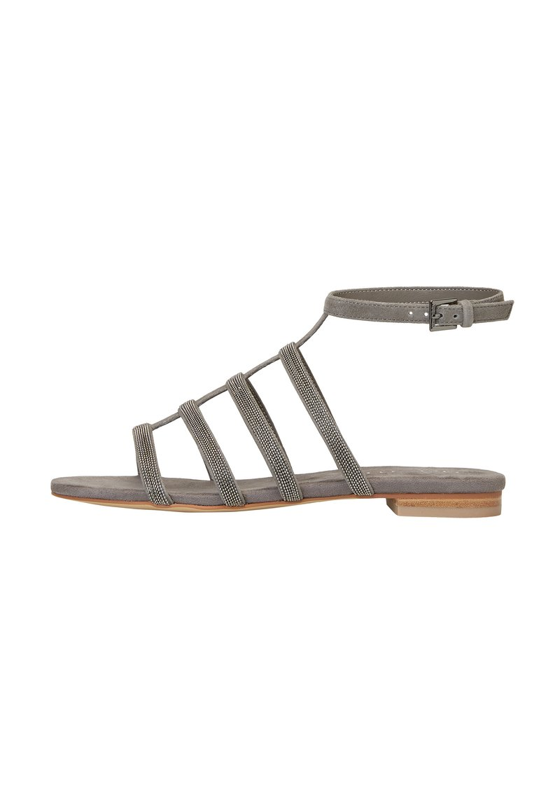 Marc O'Polo - MIT PERLEN-STICKEREI - Sandals - dark grey