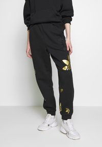 adidas Originals - LARGE LOGO PANT - Tracksuit bottoms - black/gold - 0