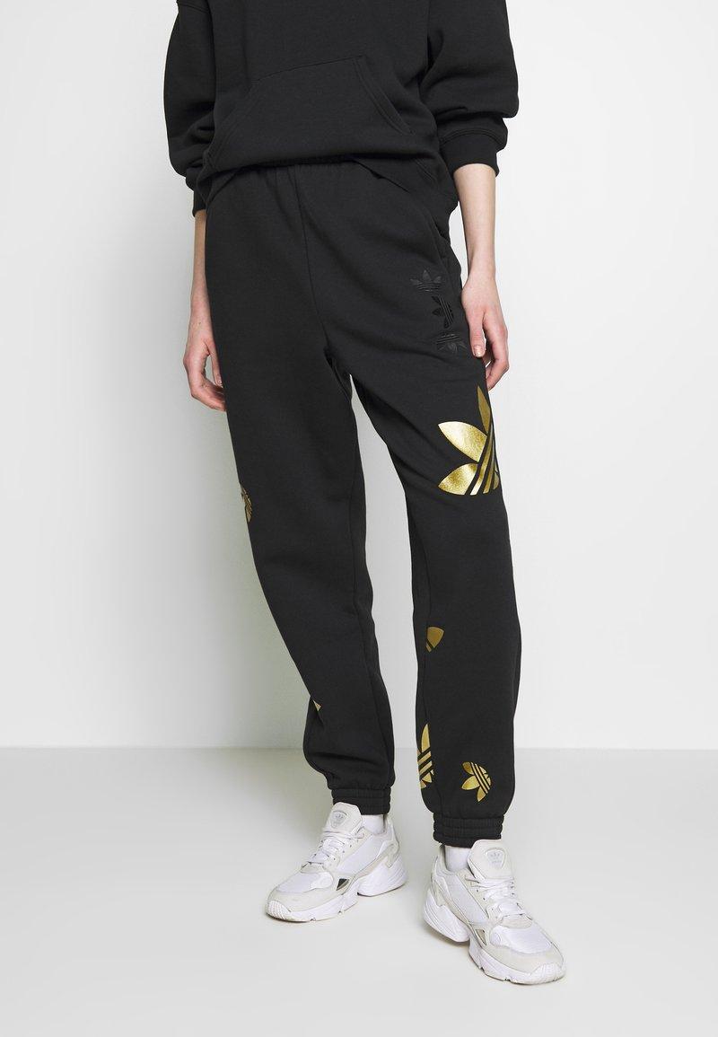 adidas Originals - LARGE LOGO PANT - Tracksuit bottoms - black/gold