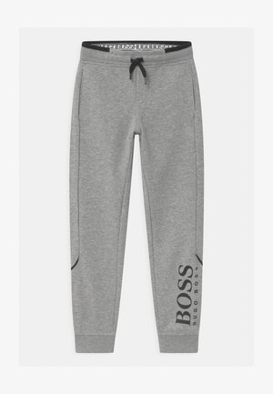 BOTTOMS - Tracksuit bottoms - mottled grey
