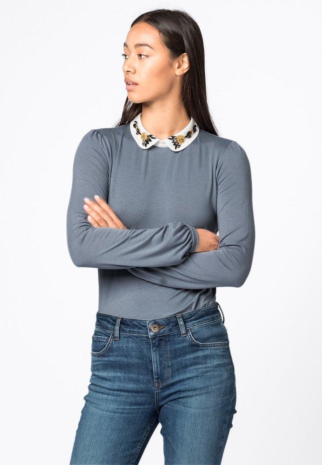 CLAUDINE  - Long sleeved top - bleu fumeé
