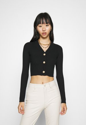 CROPPED BUTTON - Neuletakki - black