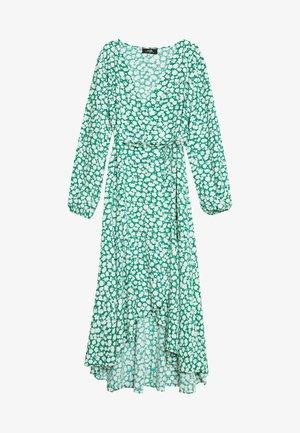 FLORAL TIERED HEM MIDI - Day dress - green
