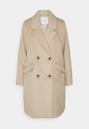 OBJKENIA COAT - Krátký kabát - sandshell melange