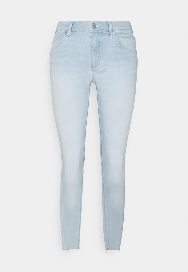 ALVA CROPPED - Jeans Skinny Fit - multi/white dipped cobalt blue