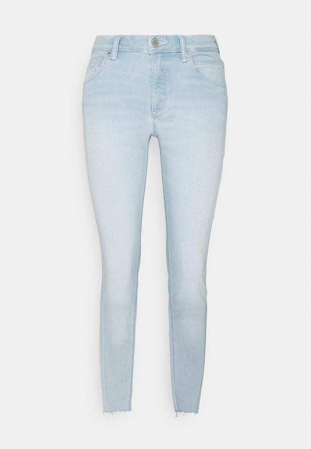 ALVA CROPPED - Skinny džíny - multi/white dipped cobalt blue