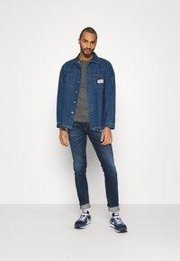 Tommy Jeans - SLIM JASPE C NECK - Basic T-shirt - black - 1