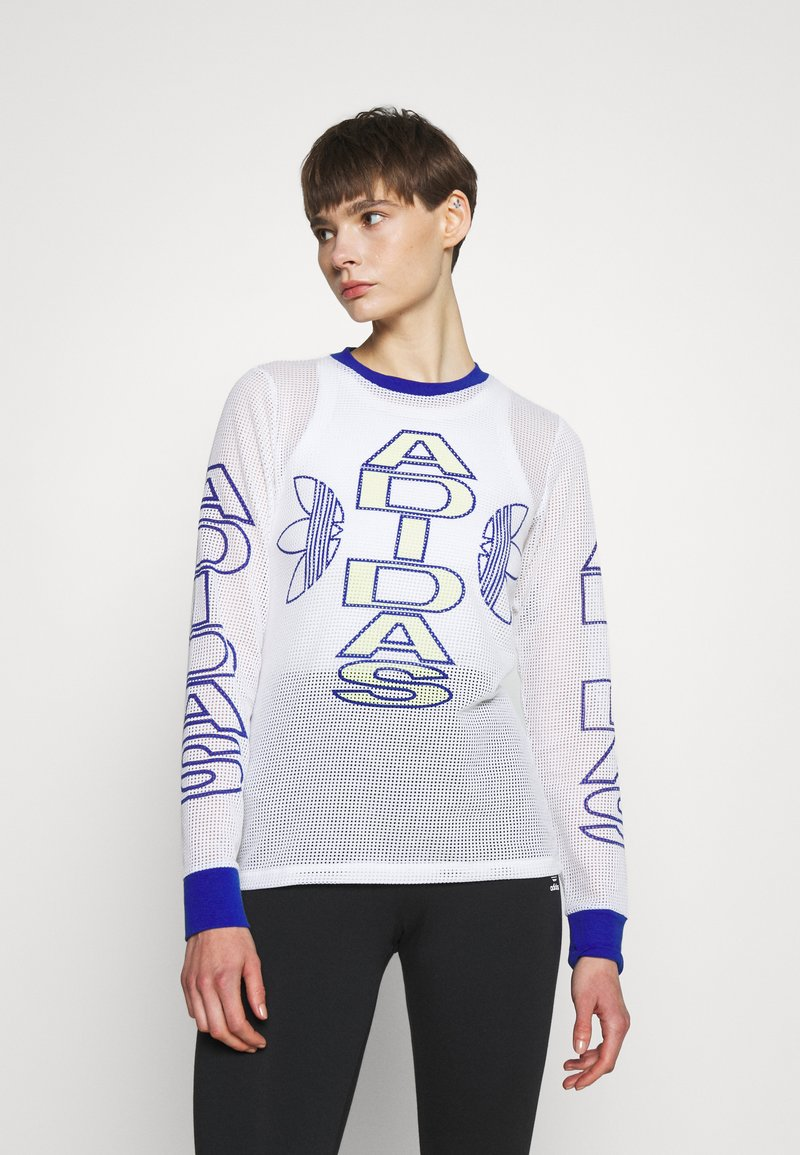 adidas Originals - VARSITY - Camiseta de manga larga - white