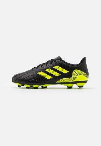 COPA SENSE.4 FXG - Moulded stud football boots - core black/solar yellow