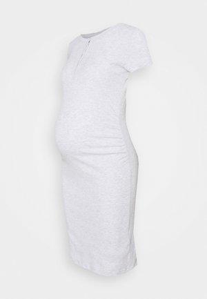 HENLEY SHORT SLEEVE DRESS MATERNITY - Jersey dress - light grey marle