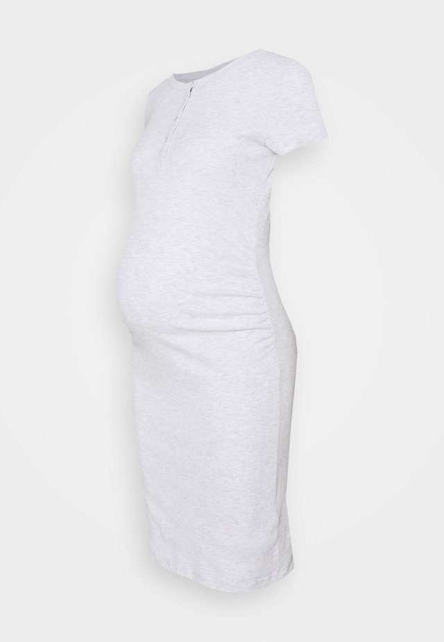 HENLEY SHORT SLEEVE DRESS MATERNITY - Sukienka z dżerseju - light grey marle