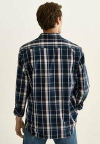 Massimo Dutti - SLIM FIT - Shirt - blue black denim - 0