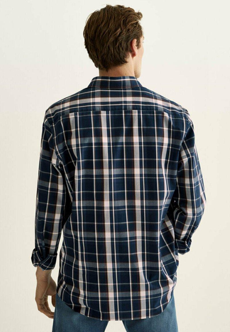 Massimo Dutti - SLIM FIT - Shirt - blue black denim
