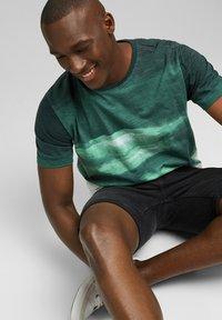 Esprit - FASHION SLUB - Print T-shirt - teal green - 6