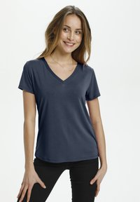Soaked in Luxury - Basic T-shirt - navy - 0