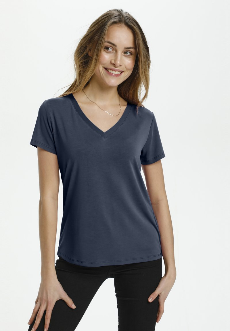 Soaked in Luxury - Basic T-shirt - navy