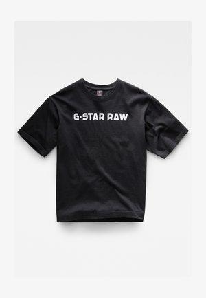 FLOCK BOXY R T UNISEX  - T-shirt imprimé - dry jersey o dk black