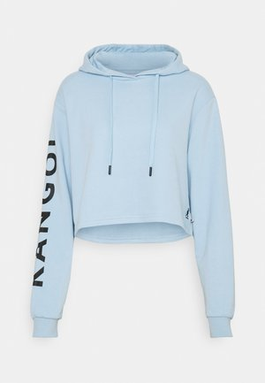 MAINE CROPPED HOODY - Sweater - light blue