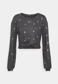 PRINTED COZY CREW - Pyjama top - grey
